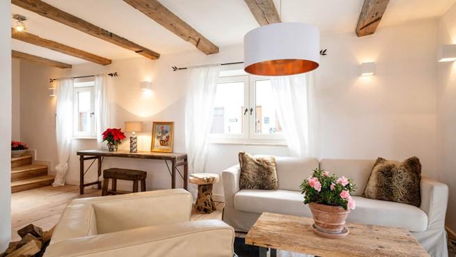 Das Wohnzimmer des Alpenchalets Bayrischzell in Bayern